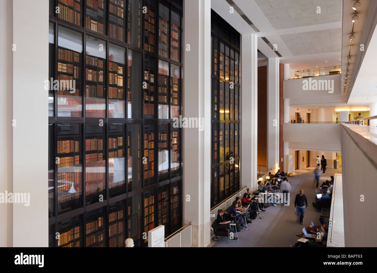 Interior British Library St Pancras London England Stock Photo