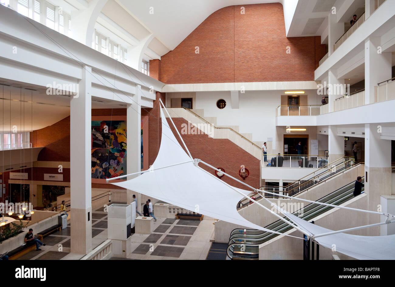 Interior Lobby British Library St Pancras London England