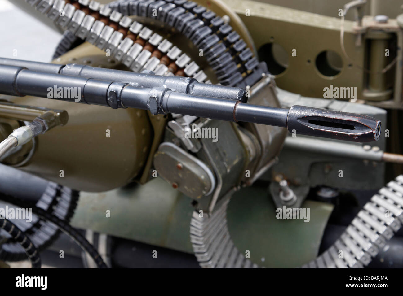 Detail Of A Machine Gun Mounted On A Us Navy Helicopter Uss Midway - Gun museums in usa