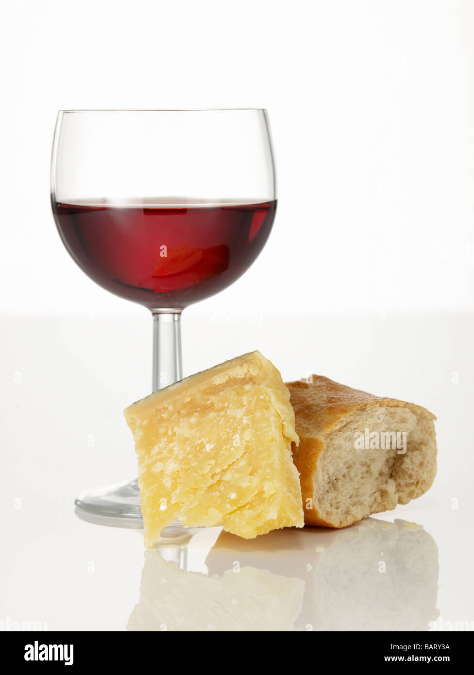 Wine Glass And Cheese