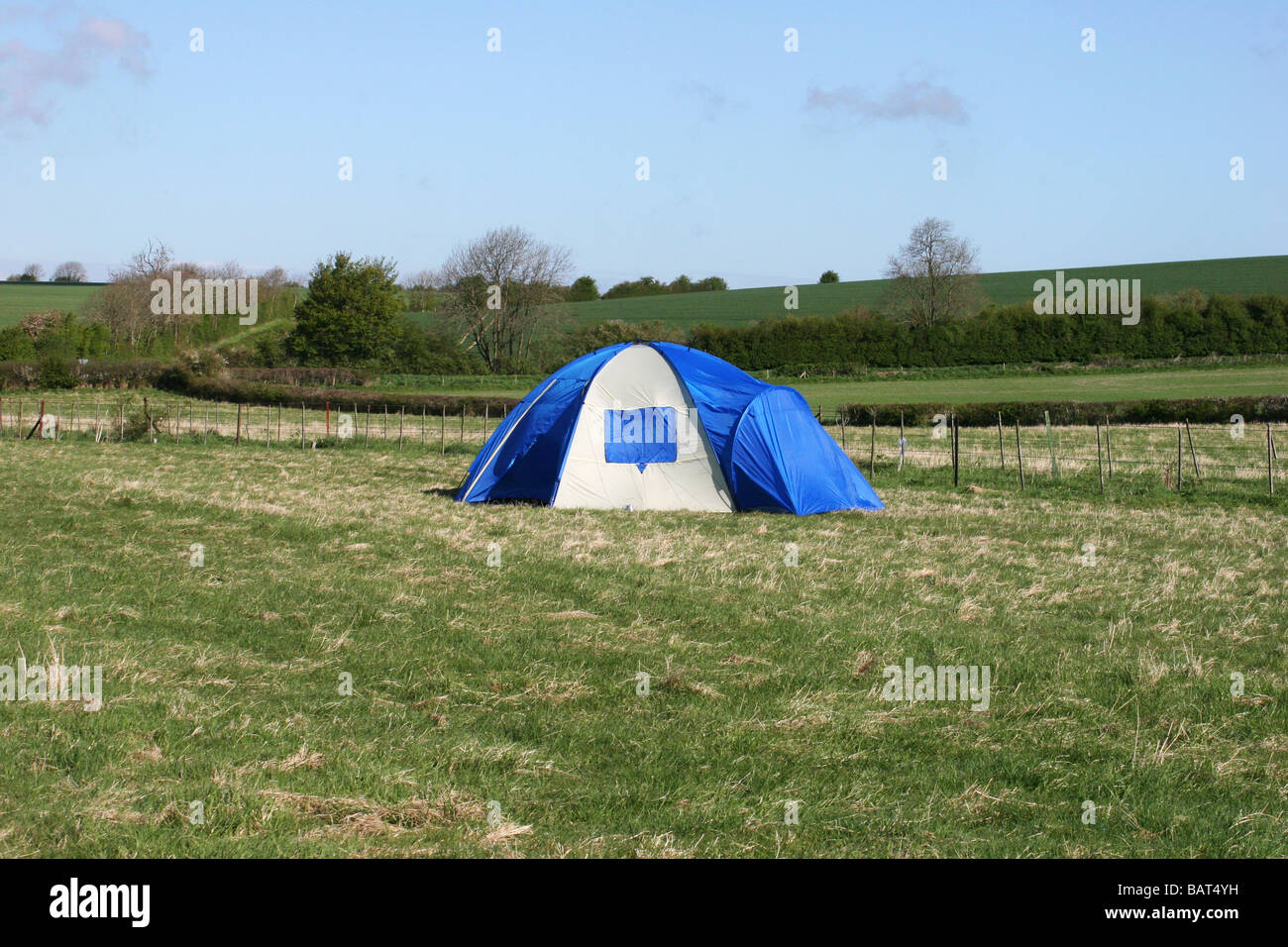C&ing tent in a field & Camping tent in a field Stock Photo Royalty Free Image: 23887685 ...