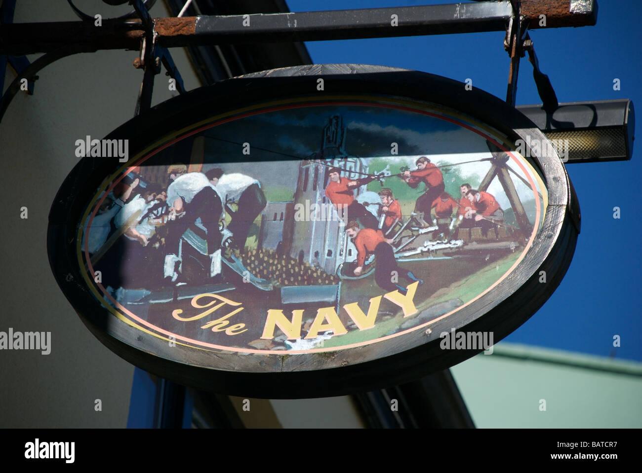 The Navy Inn Barbican Plymouth Devon Uk Stock Photo