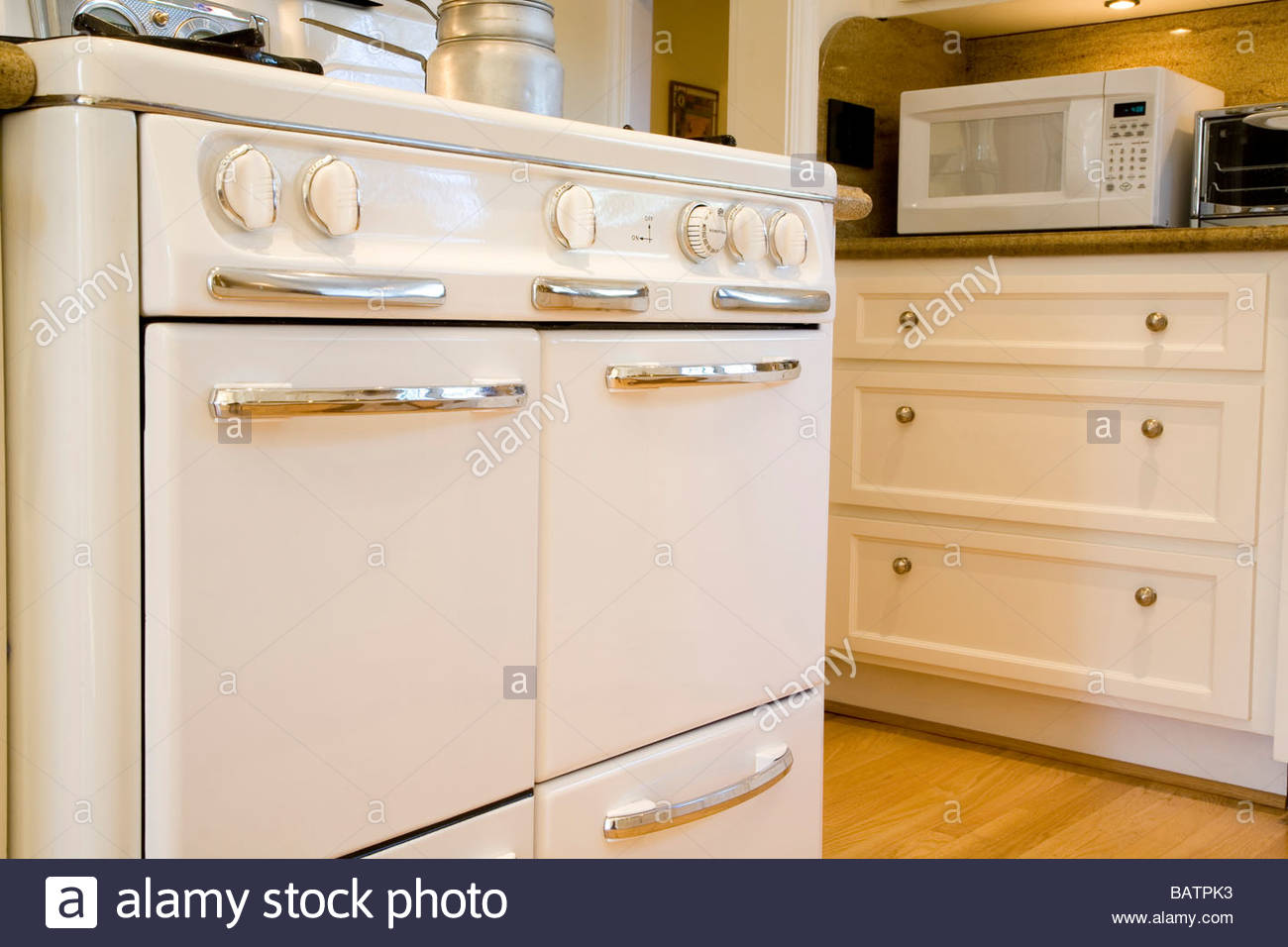 Old fashioned oven in country style kitchen stock photo for Old country style kitchen