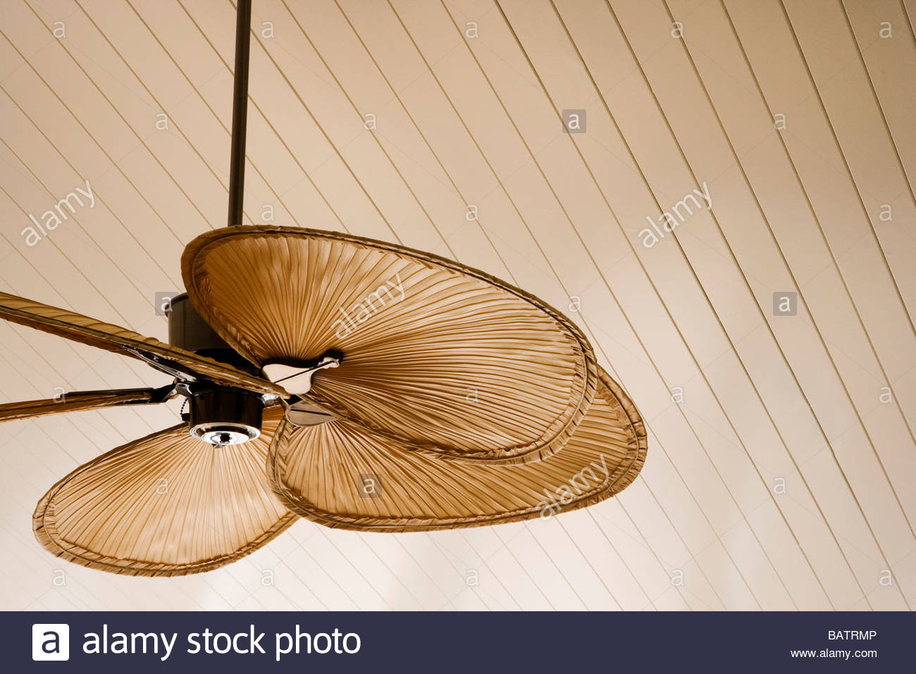 detail of beach style ceiling fan stock photo: 23902390 - alamy