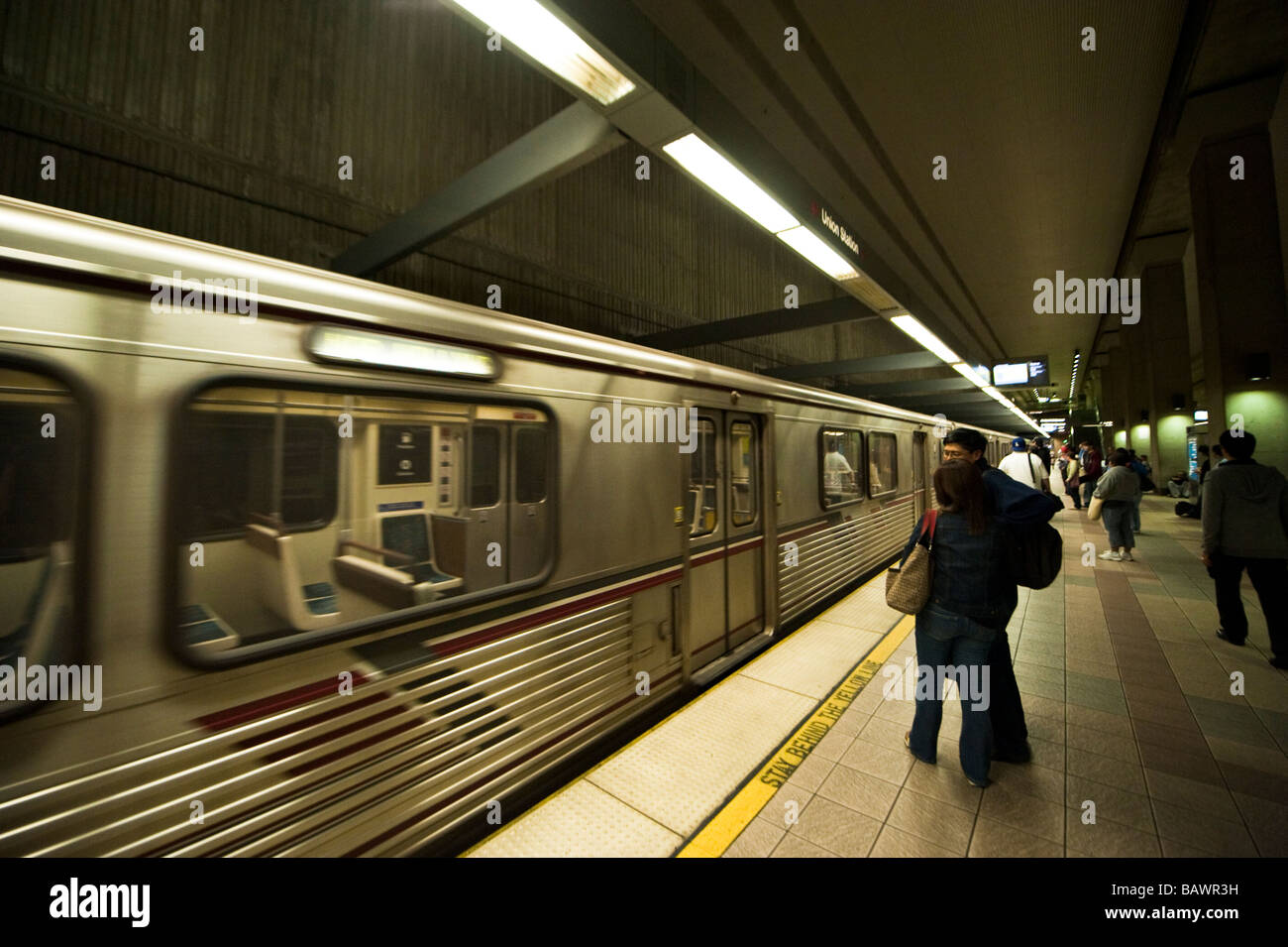 Subway in Los Angeles California Stock Photo, Royalty Free Image ...