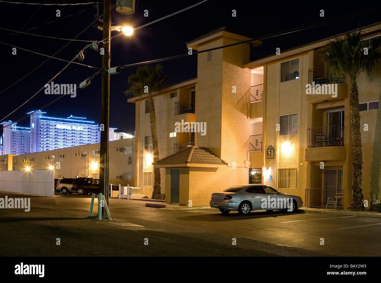 parking spaces backyard of the las vegas casinos las vegas