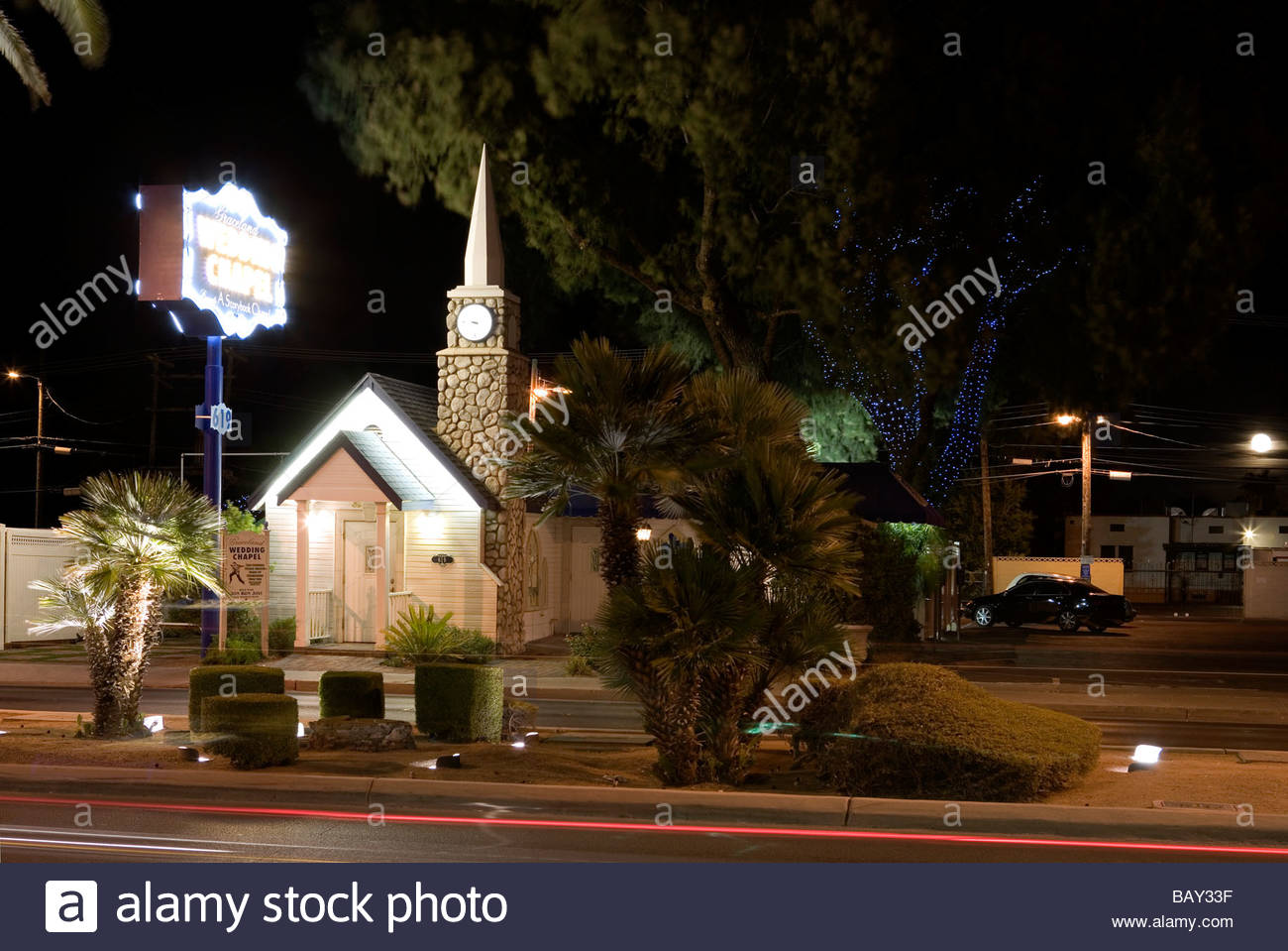 Las Vegas Boulevard The Strip Graceland Wedding Chapel Downtown Nevada USA