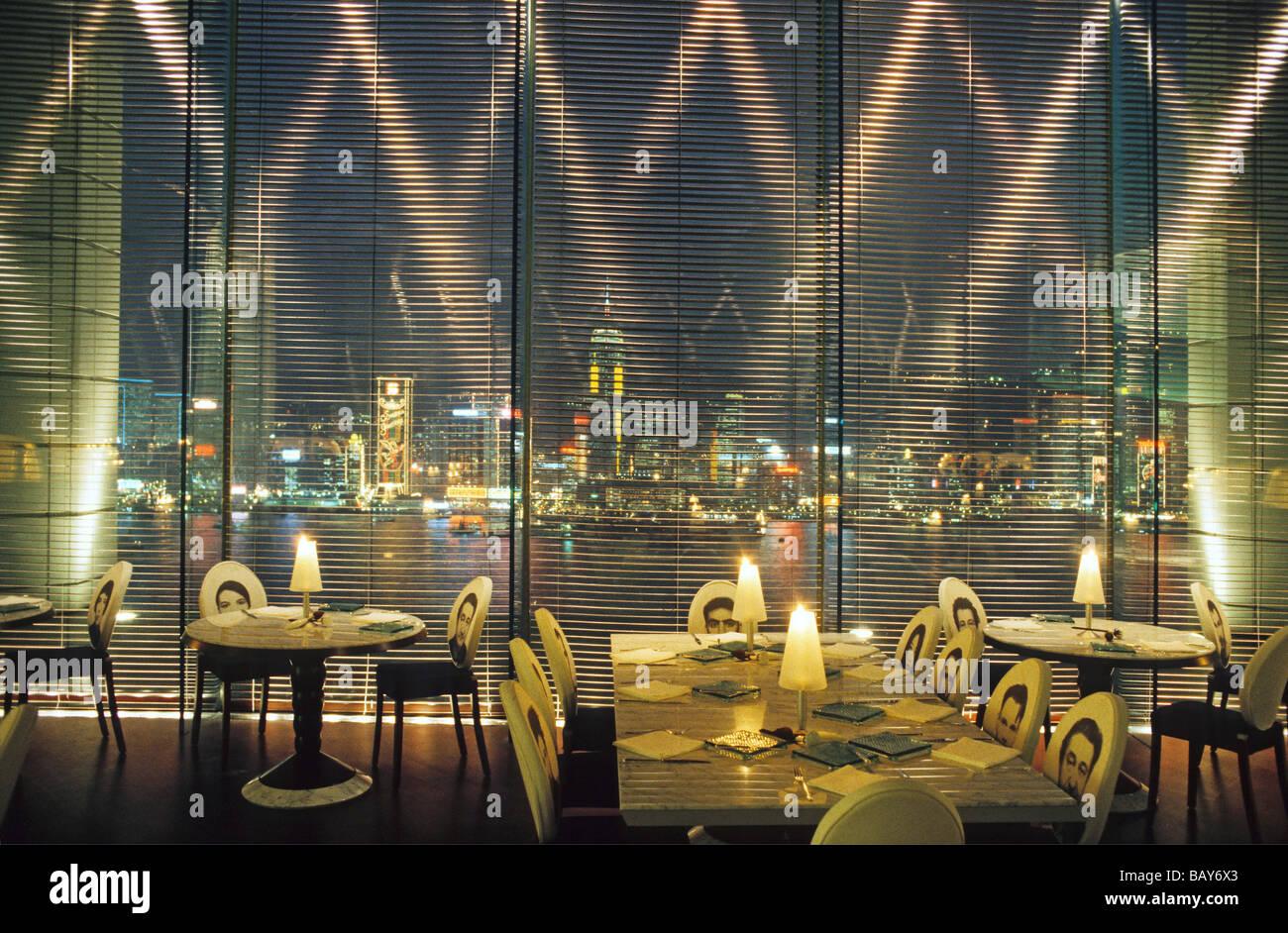 Felix Restaurant Designer Philippe Starck In Peninsula Hotel Hong Stock Pho