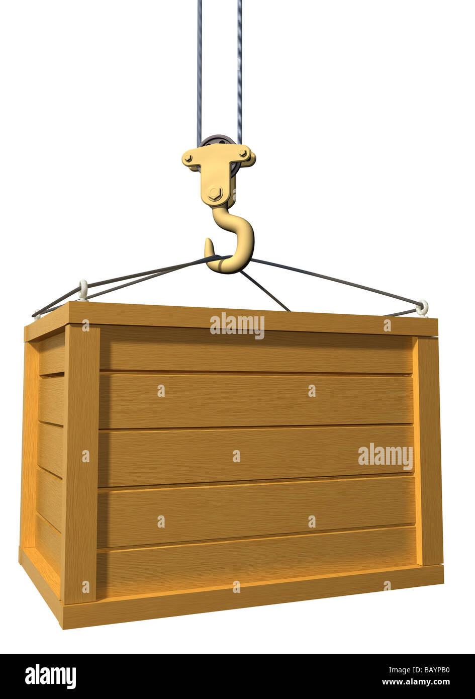 wooden box clipart. isolated illustration of a crane lifting wooden box clipart