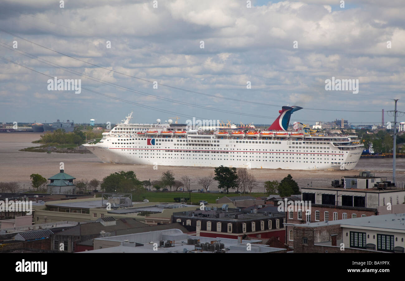 Cruise Ship On Mississippi River At New Orleans Stock Photo Royalty Free Ima