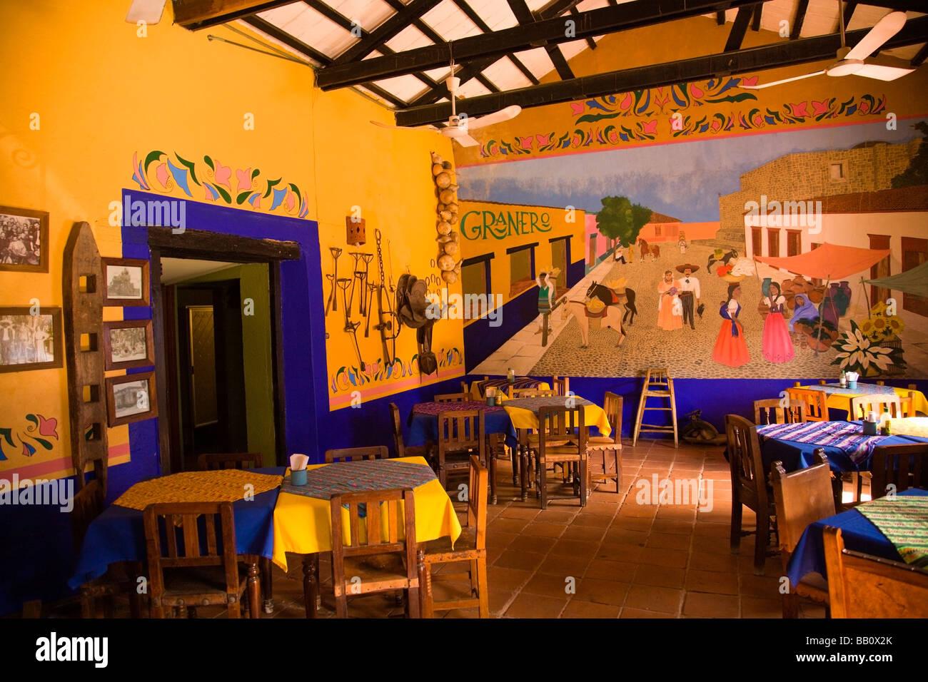 Interior of typical mexican restaurant concordia sinaloa