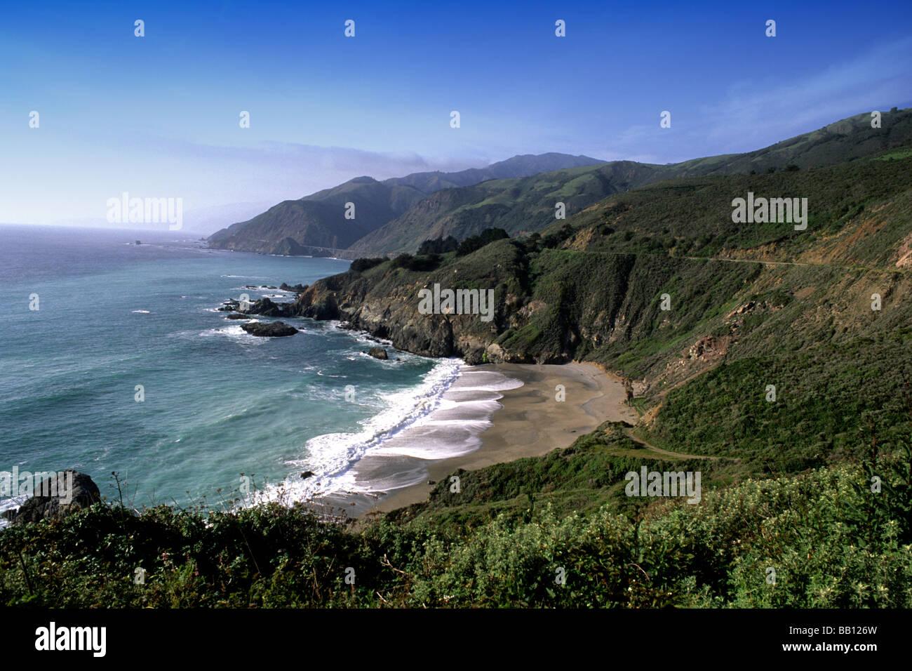 Beautiful Scenic On Pacific Coast Highway 1 Near Big Sur