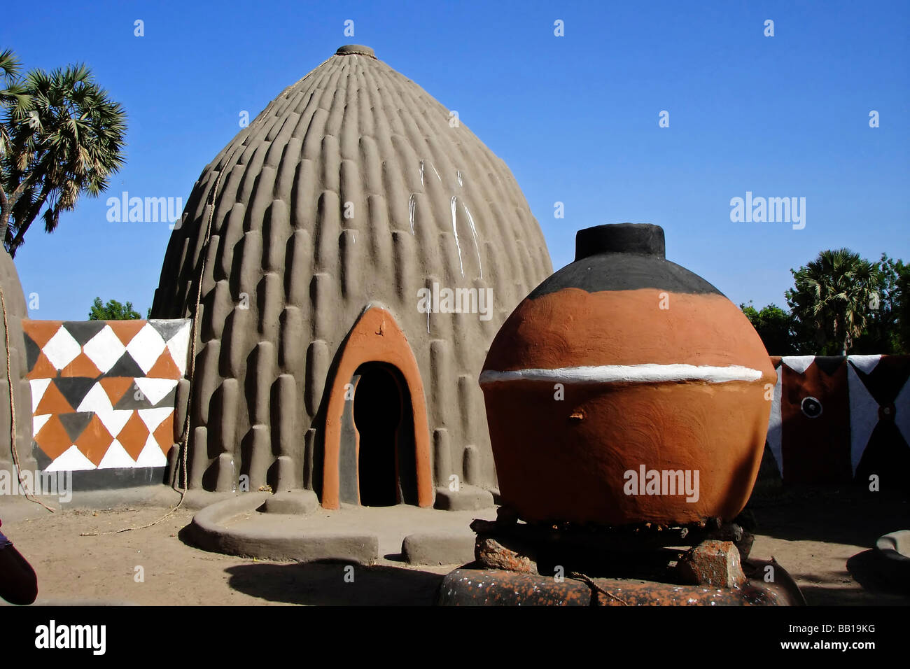 Cameroon Pouss Traditional Obus Shaped Houses In