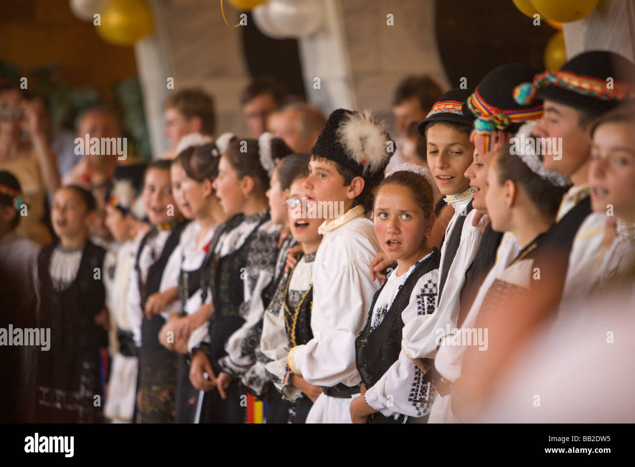 Music And Dance In Traditional Romanian Style Wedding Party Baroque Old Town Of Brasov Romania Eastern Europe