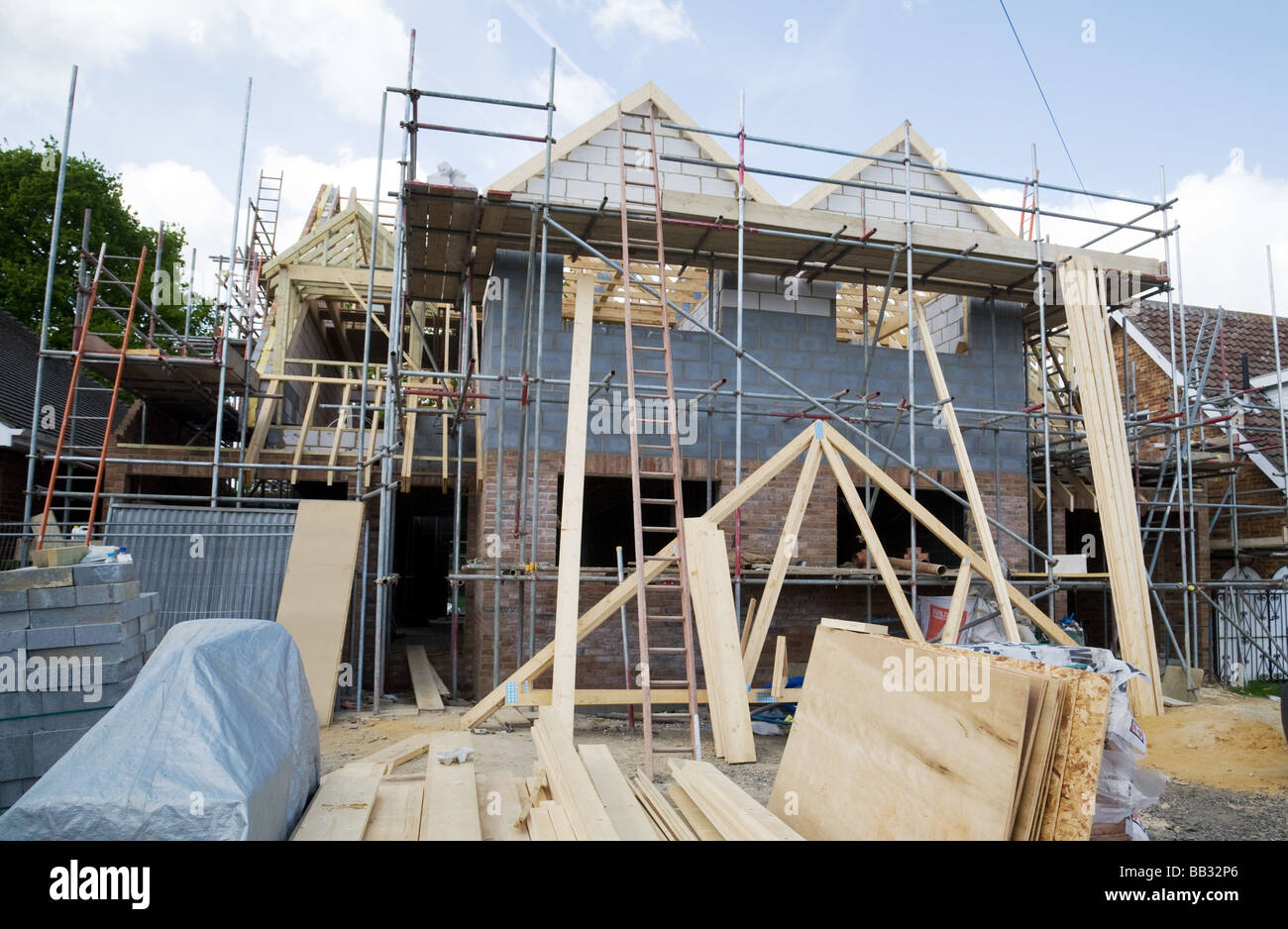 New House Building Construction Site Billericay Essex