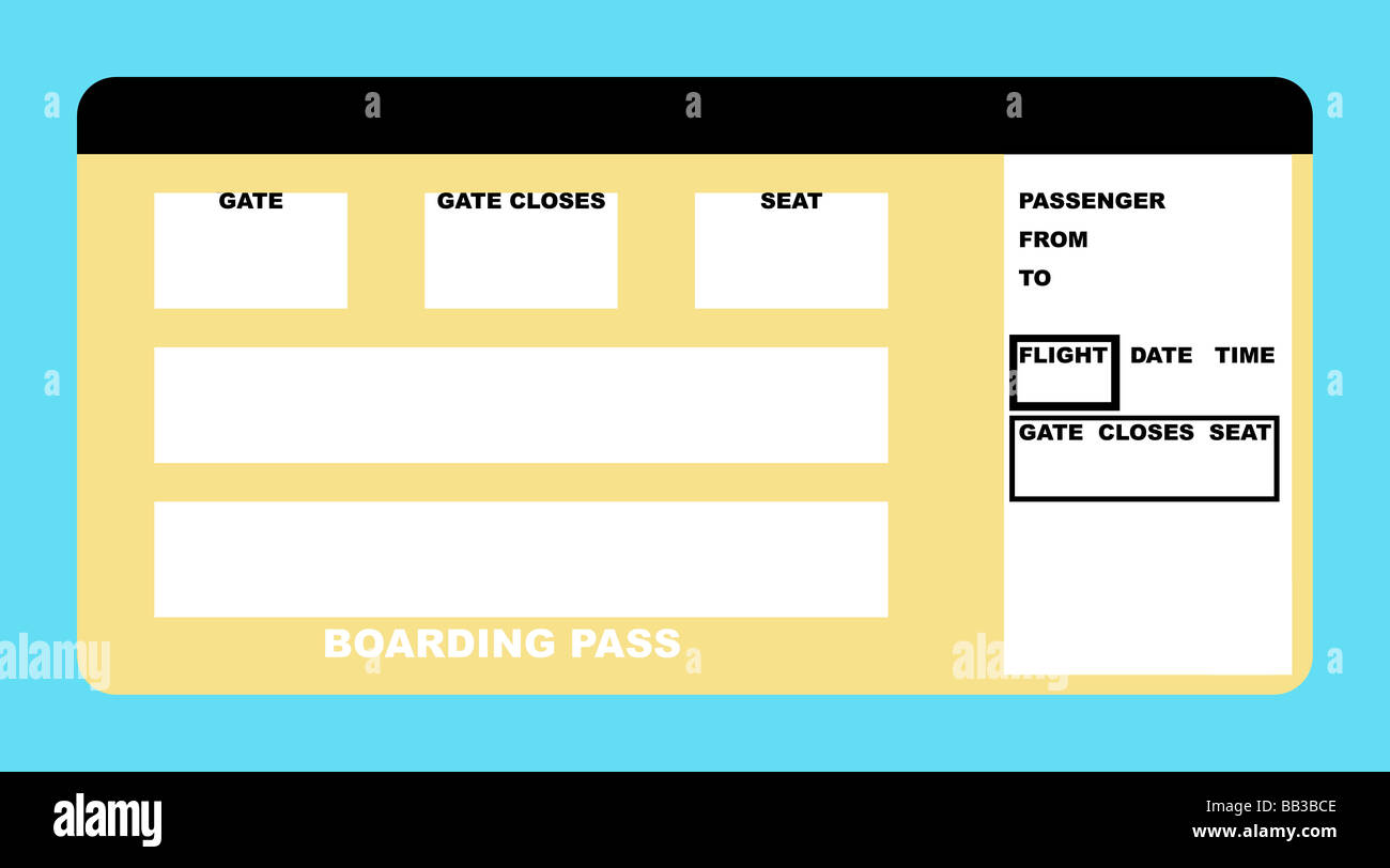 Illustration of blank airline boarding pass ticket isolated on – Blank Ticket