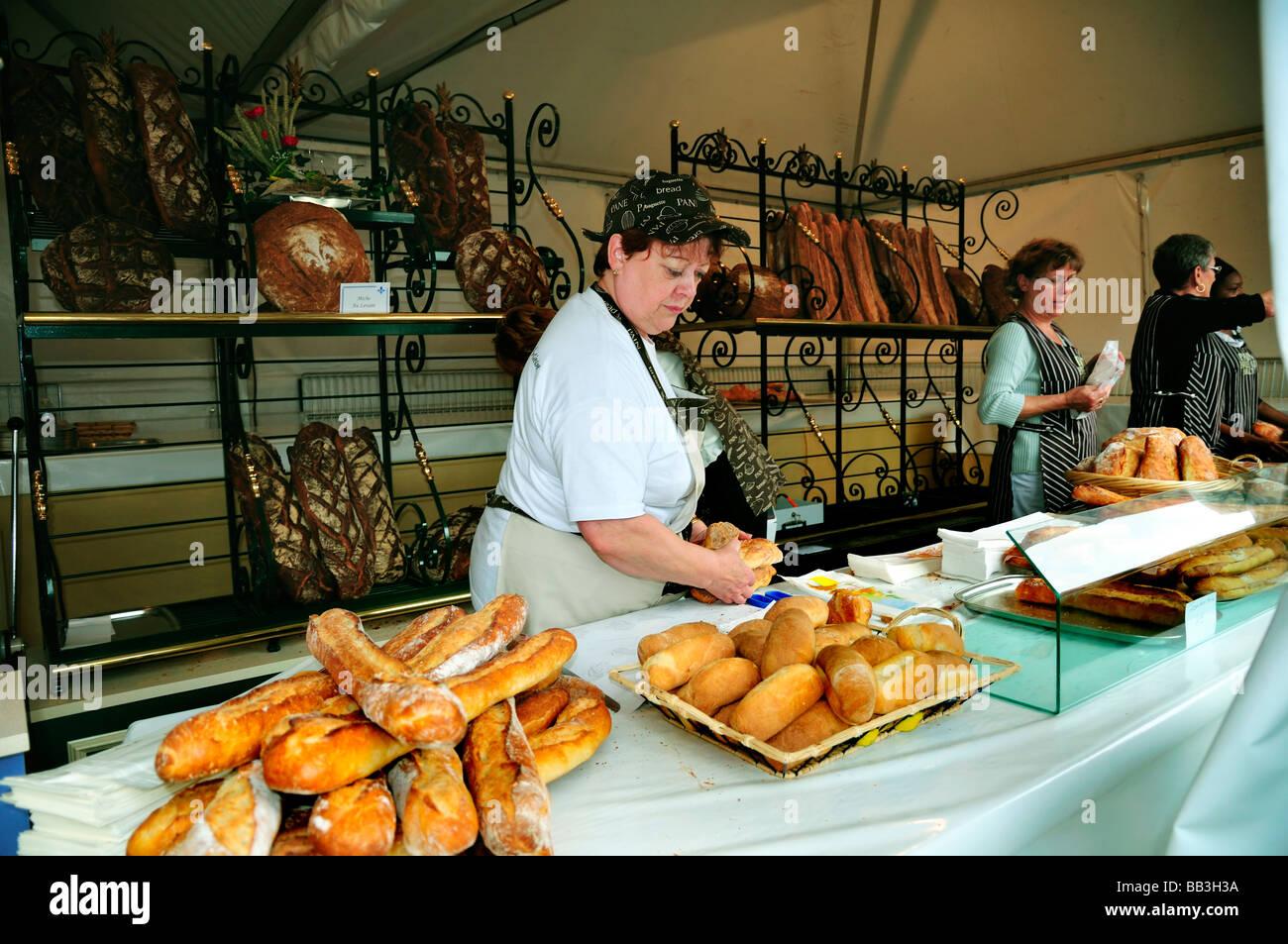 Paris france french bakery store inside female clerk for Inside in french