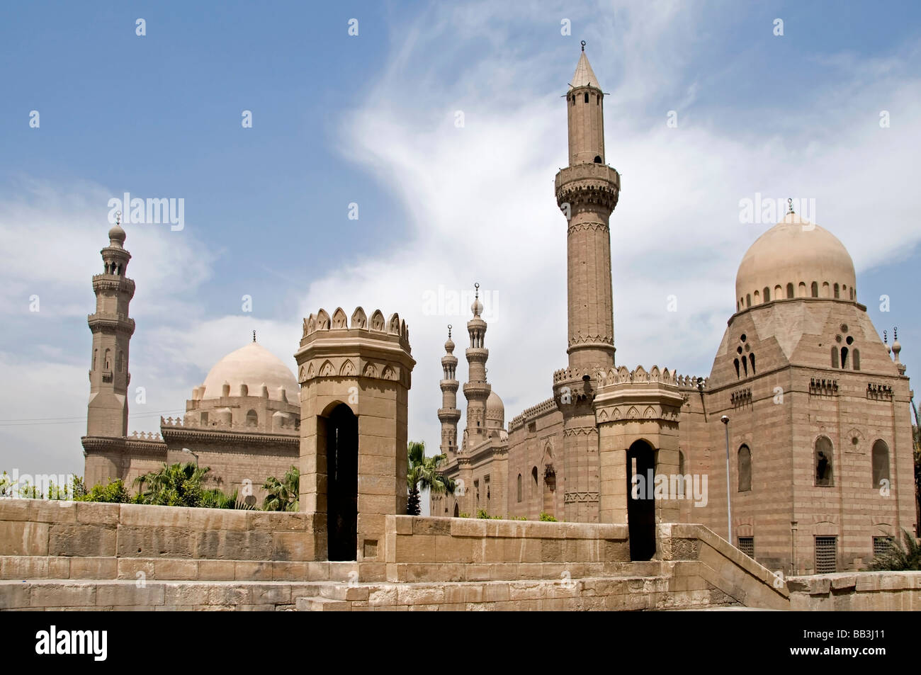 Old Cairo Down Town Egypt Sultan Hassan Mosque Left And Ali Al Rifai Mosque  Right   Design Ideas