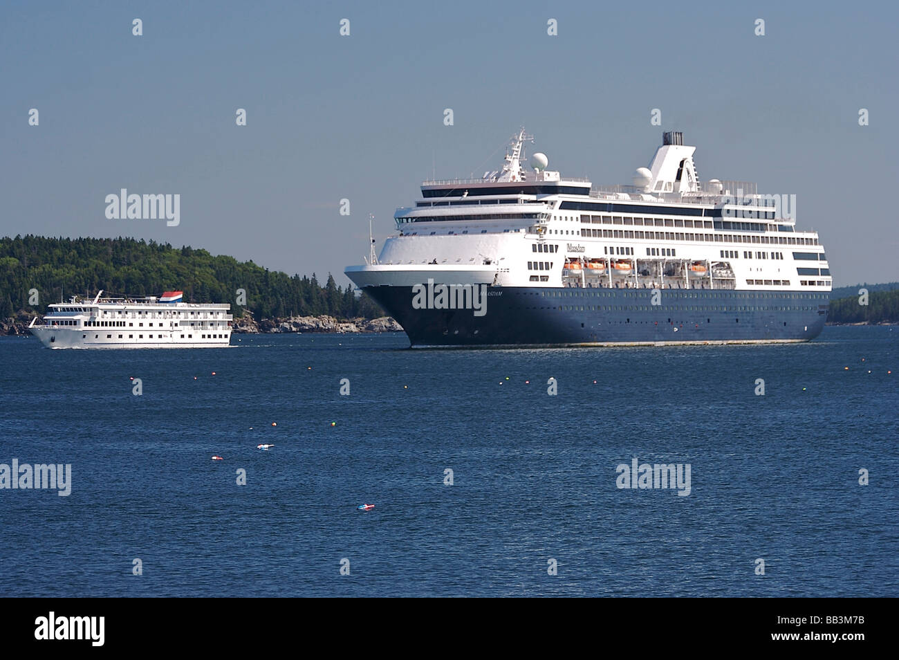 North America USA Maine Bar Harbor Holland Americas Maasdam - American star cruise ship
