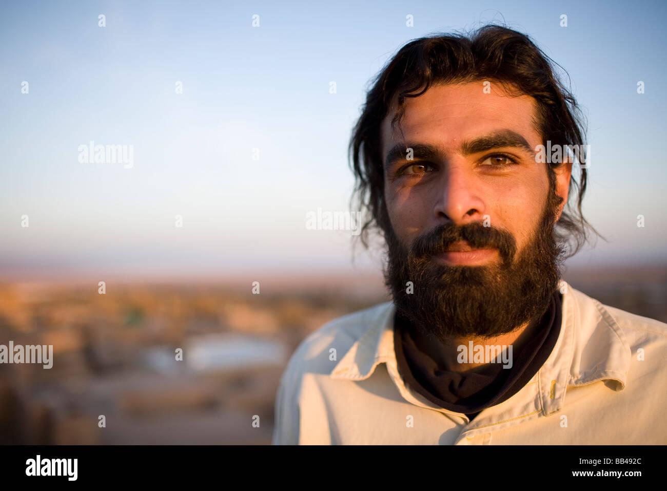 portrait of an iranian man near garmeh iran stock photo