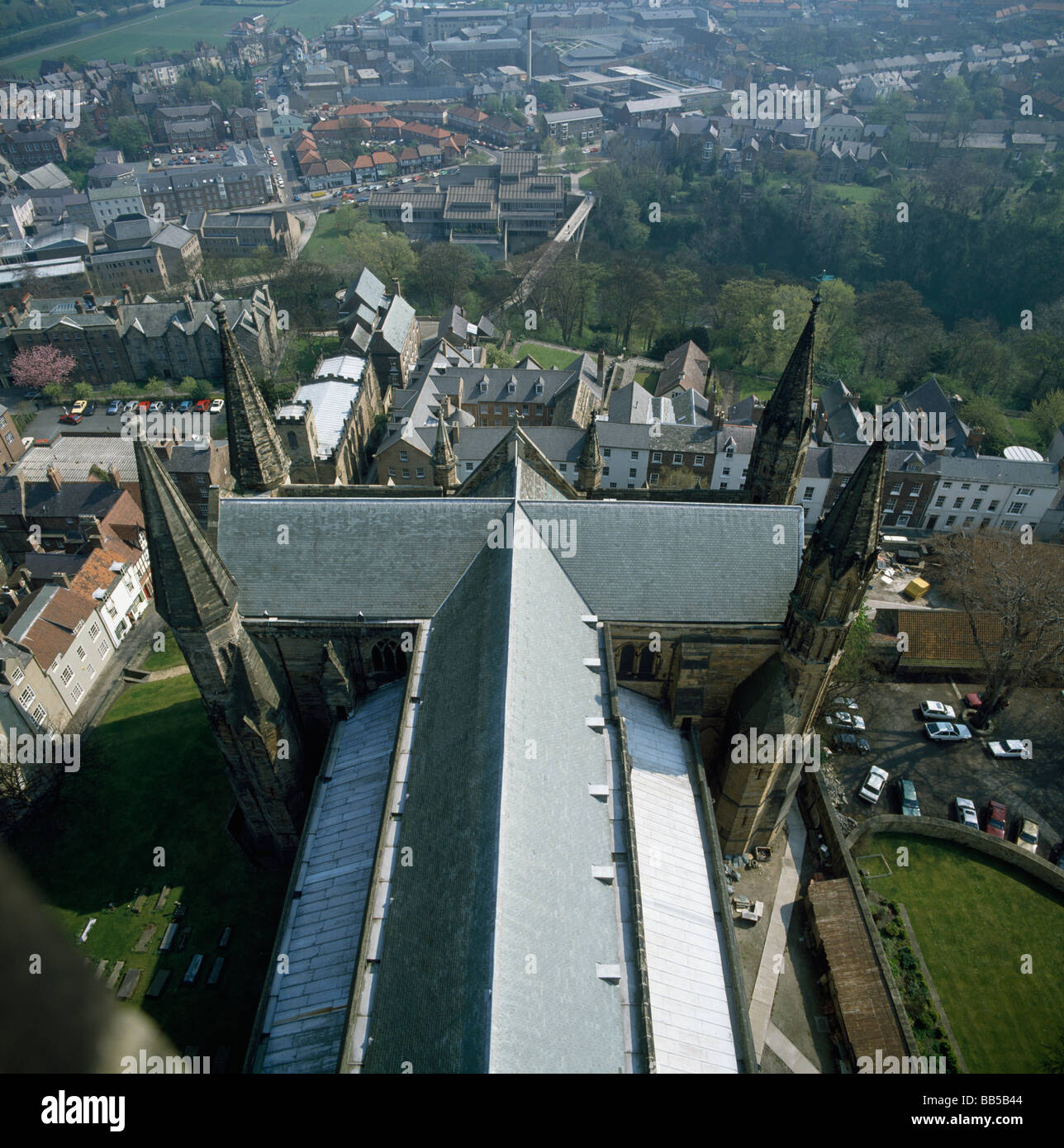 Durham Cathedral View Of Choir Roof From Top Of The Tower
