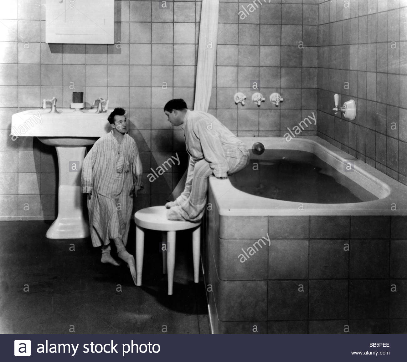 1930s Bathroom Movie Brats Usa 1930s Director James Parrott Scene With