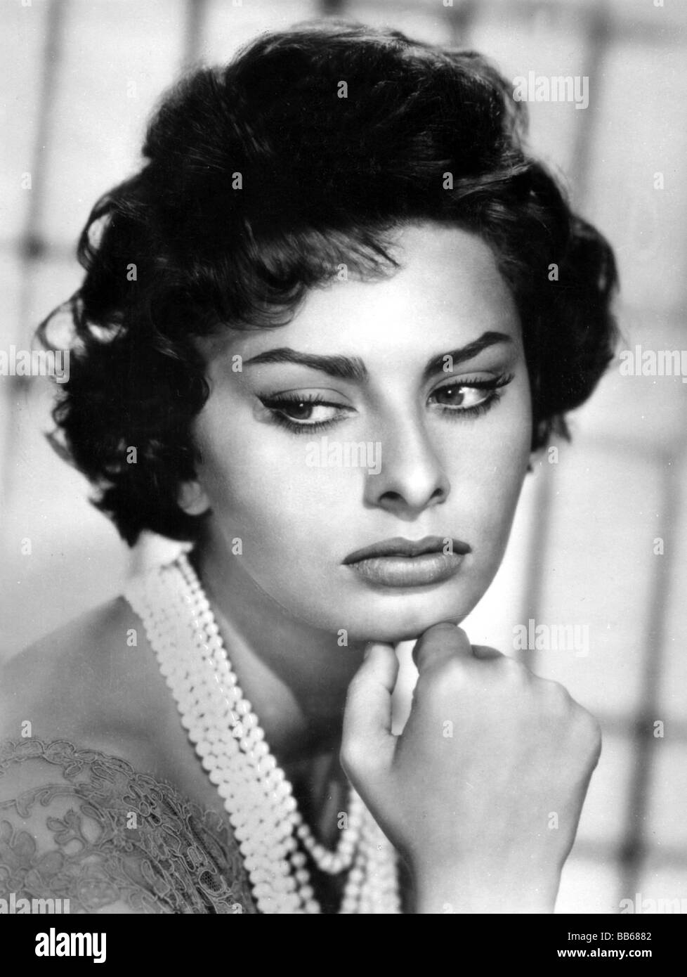 Miraculous Sophia Loren Portrait 1950S Stock Photos Sophia Loren Portrait Hairstyle Inspiration Daily Dogsangcom