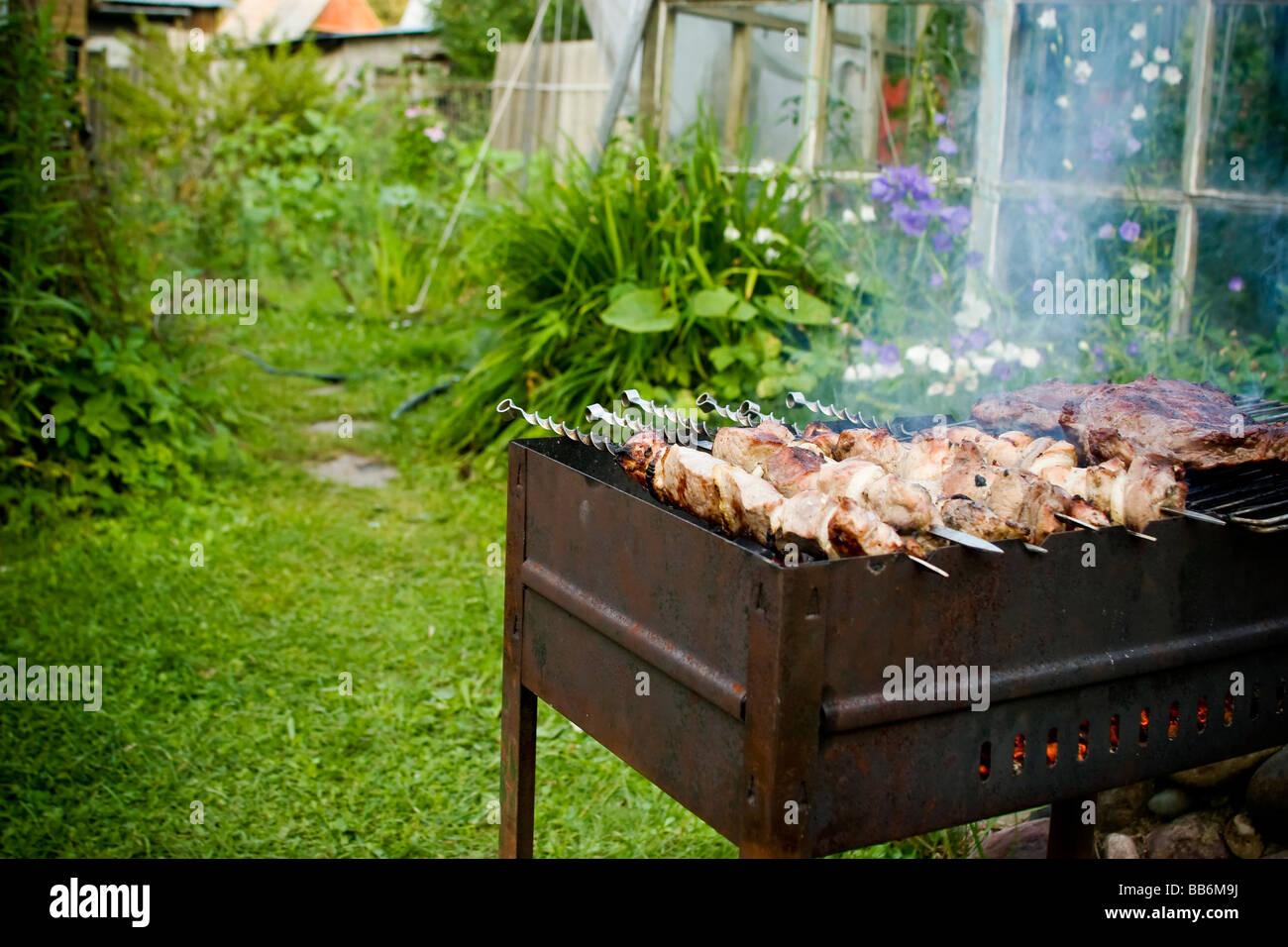 cooking pork sticks