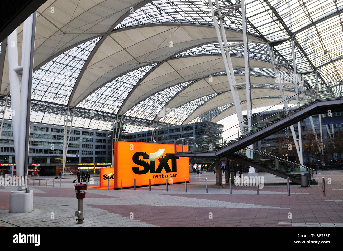 Ad for sixt car rental service terminal 2 muc ii airport munich bavaria germany europe