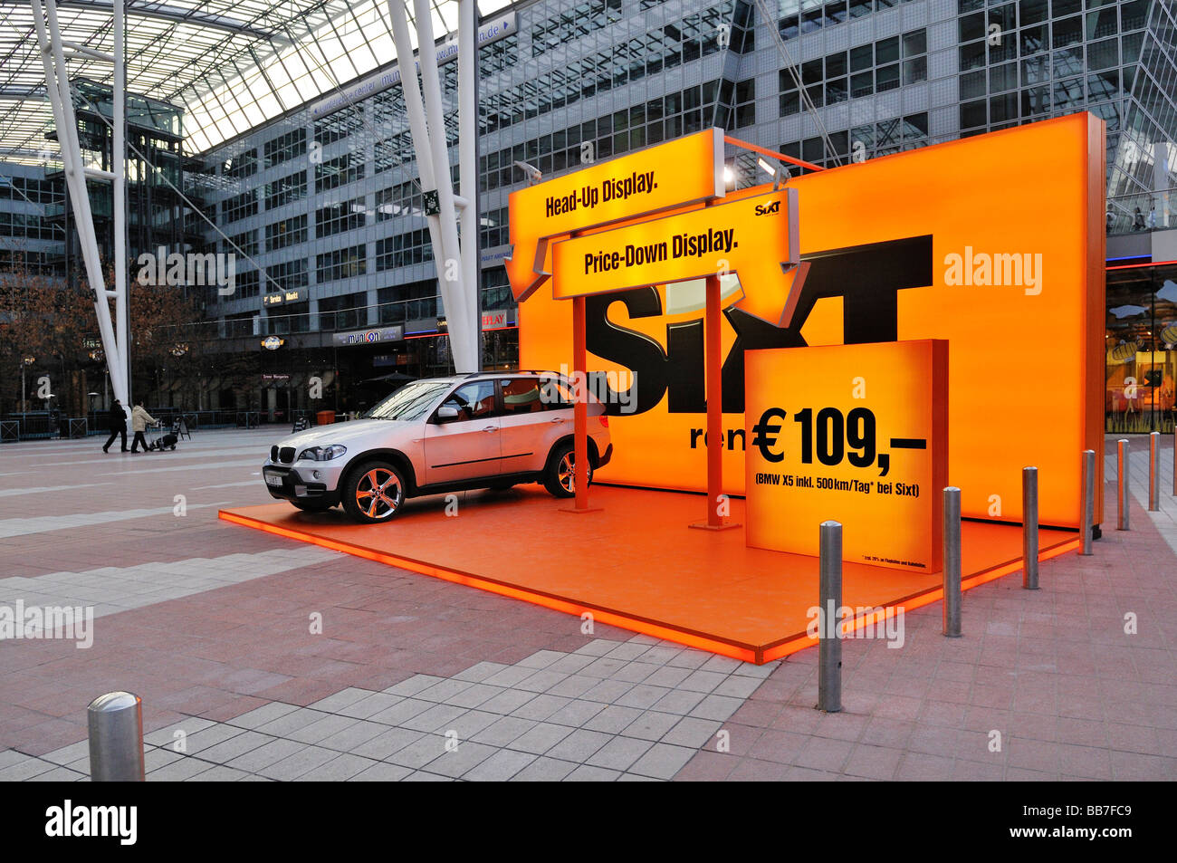Ad for sixt car rental service terminal 2 muc ii airport munich