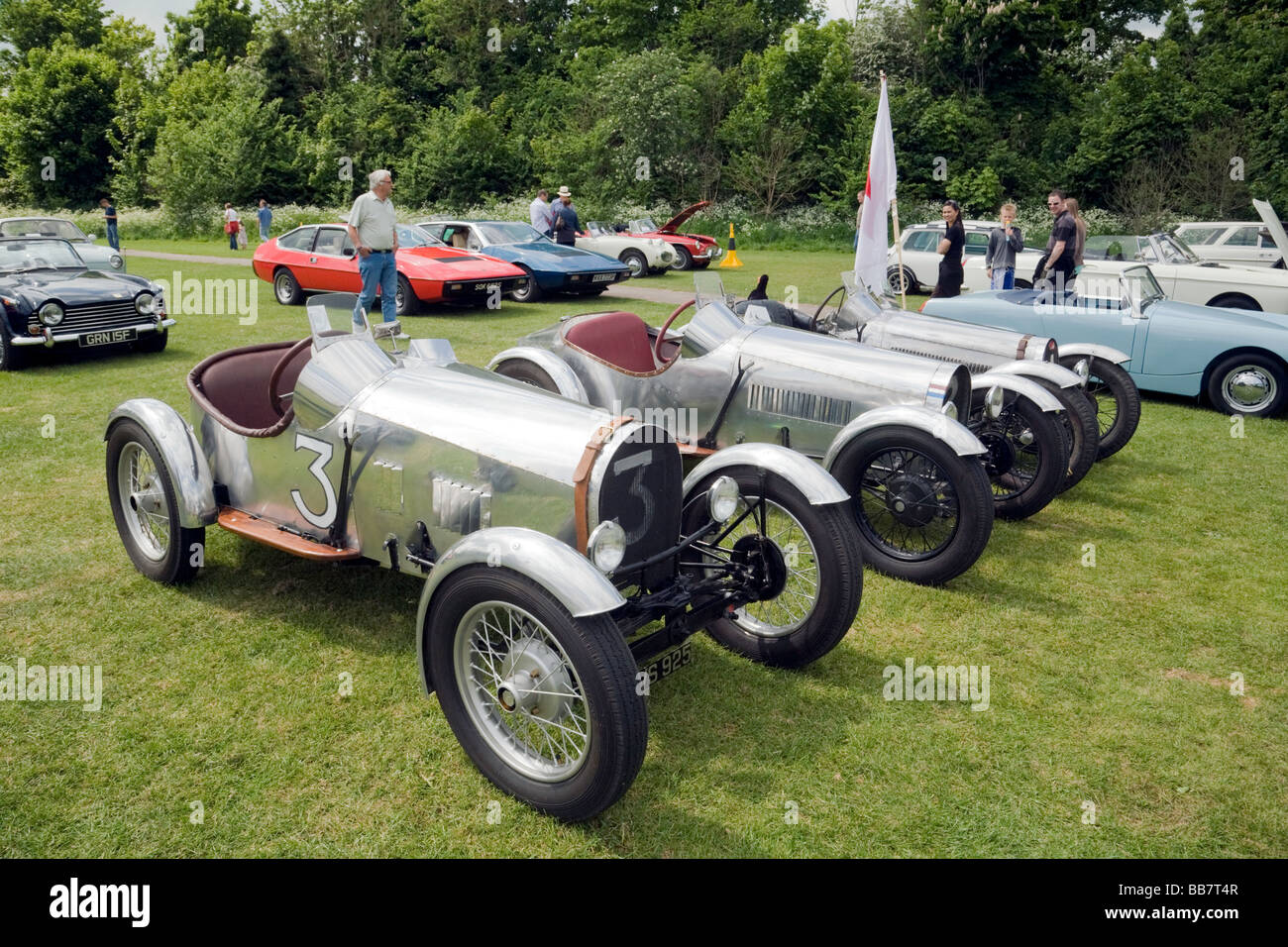 Vintage British sports cars at the Wallingford Classic car rally ...