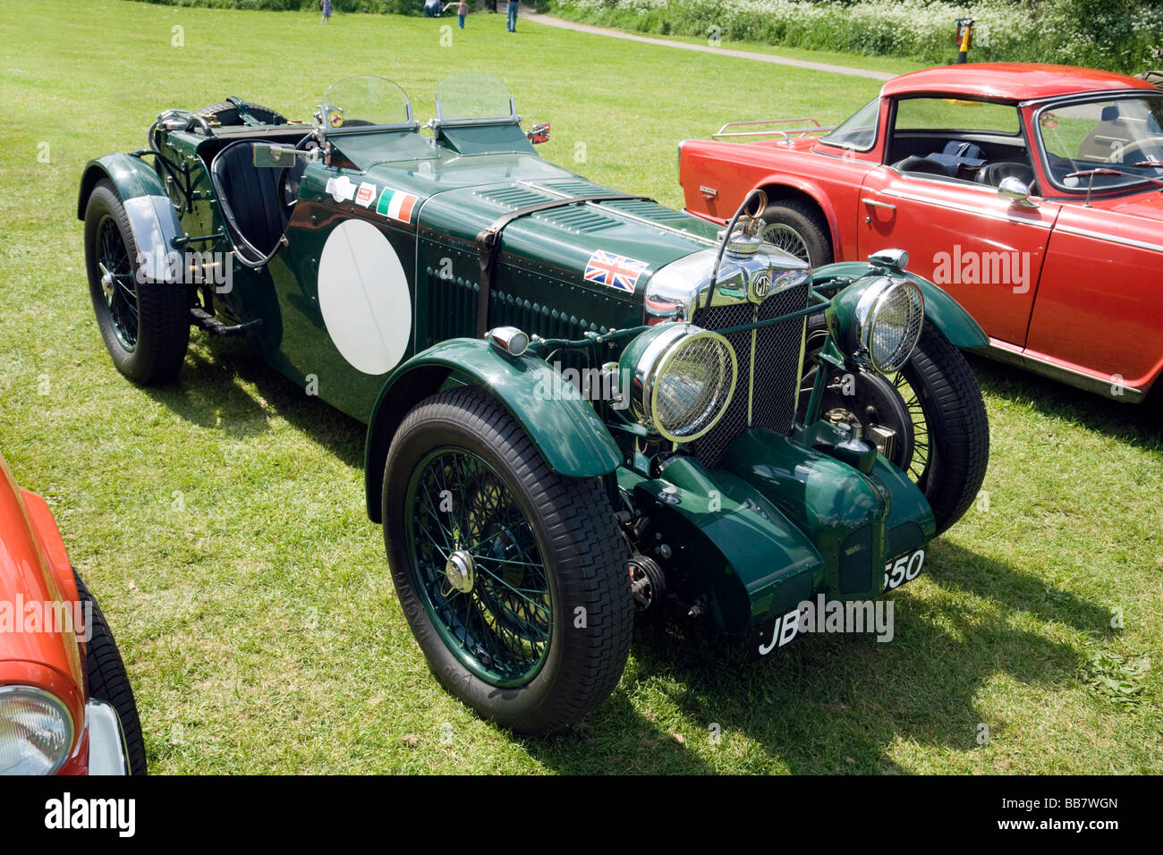 A Vintage Mg Sports Car At A Classic Car Rally Wallingford Stock