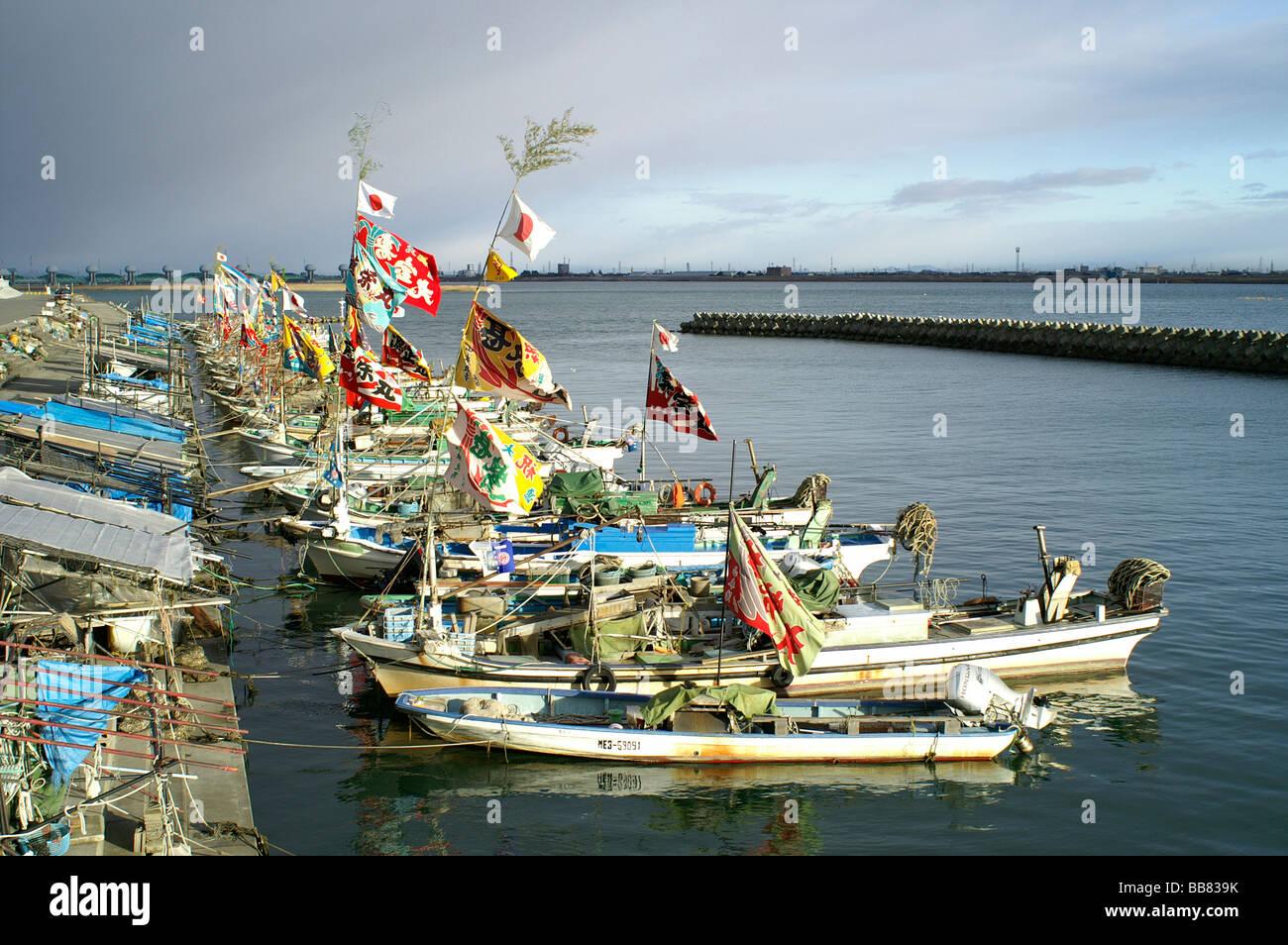Japanese fishing boats at new year kuwana city mie for Japanese fishing boat