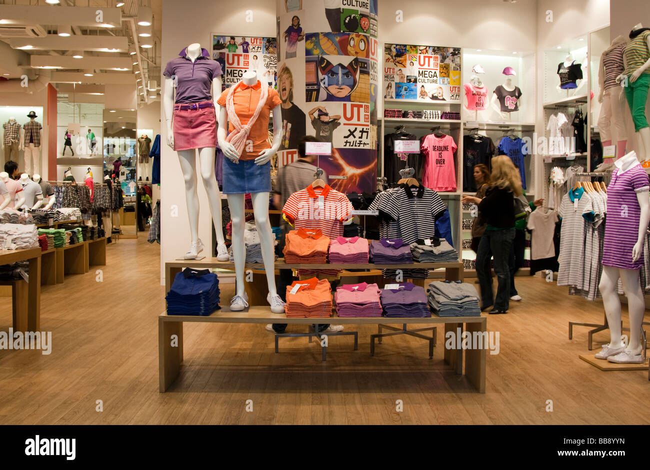 UNIQLO Store Oxford street London UK Stock Photo, Royalty Free ...