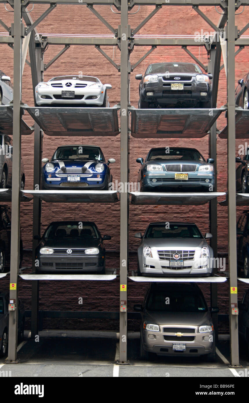 A Multi Level Stacked Car Parking System In The Soho Area Of New