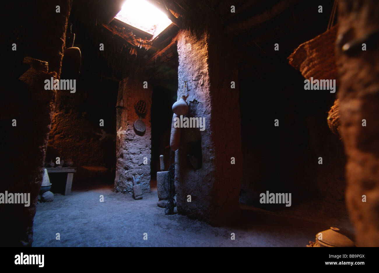 interior of a kitchen room of kasbah ait ben haddou unesco world