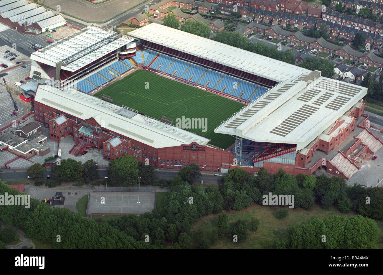 Aerial View Villa Park Home Of Aston FC Before The Trinity Road Stand Redevelopment