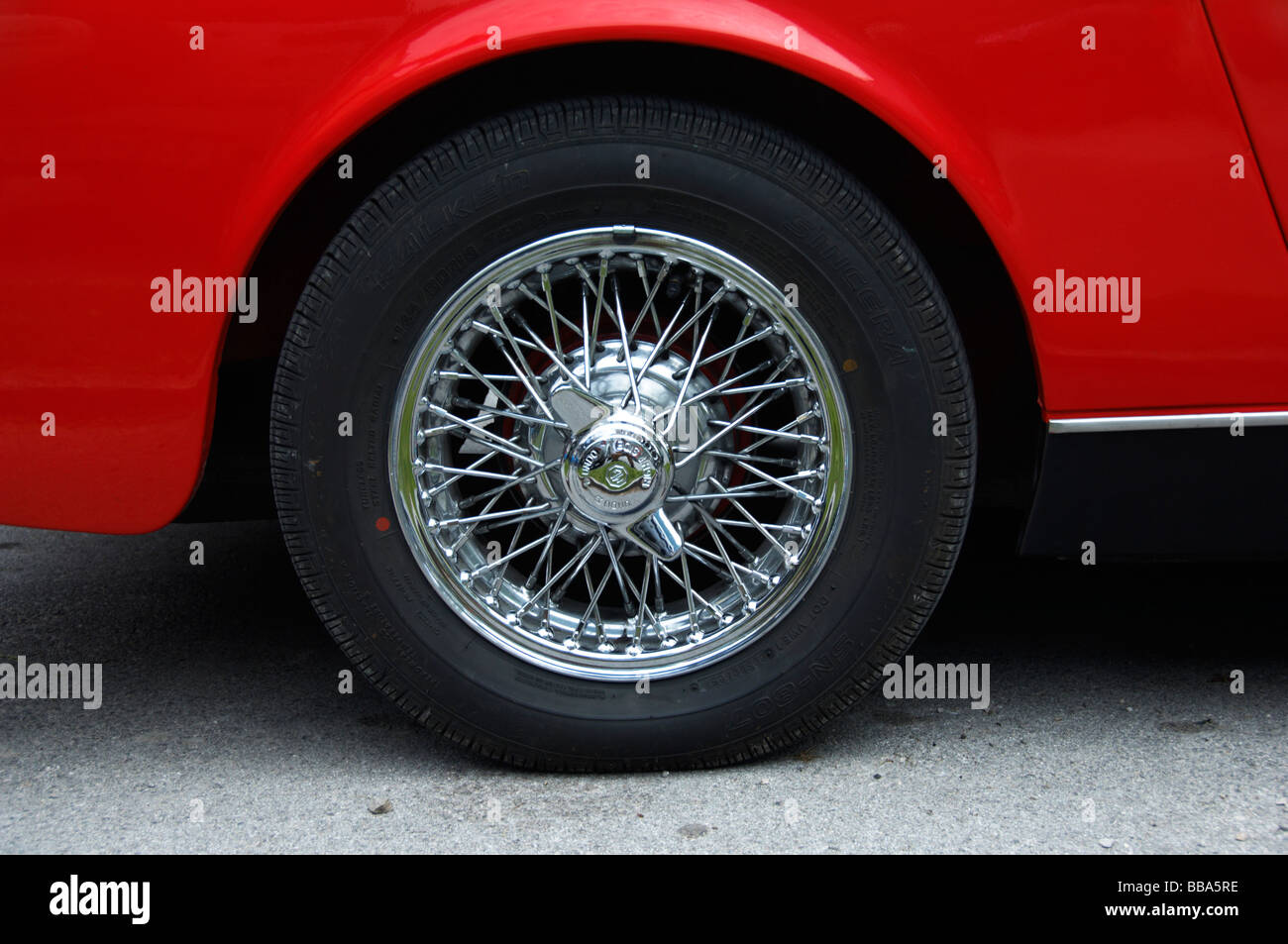 Tire With Spoke Rims On Classic Car Stock Photo Royalty Free
