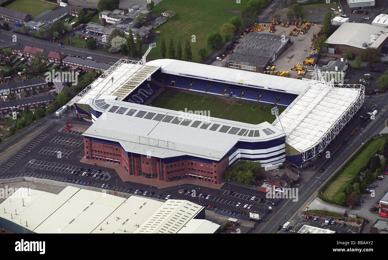 Aerial view of The Hawthorns home of West Bromwich Albion Football ...