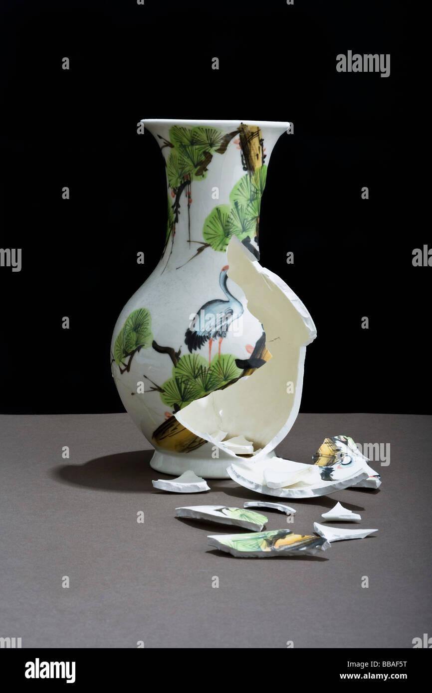 A Broken Vase Stock Photo Royalty Free Image 24203028 Alamy