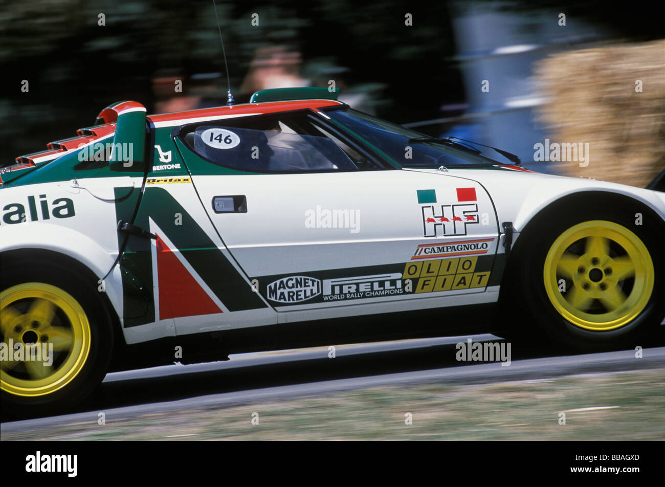 1977 monte carlo winning lancia stratos rally car at the 2005 stock photo royalty free image. Black Bedroom Furniture Sets. Home Design Ideas