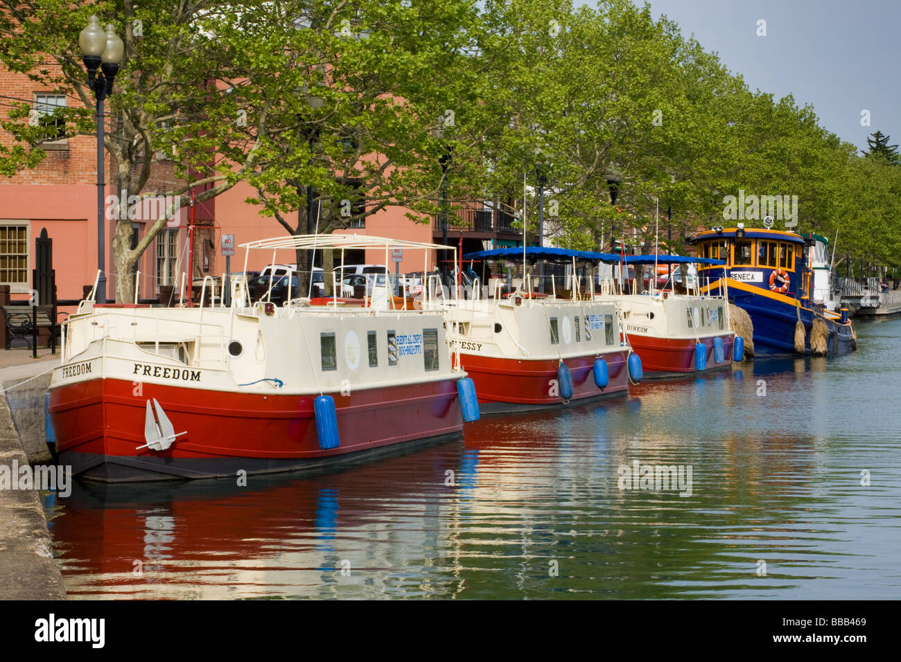 New york cayuga county - Canal Boats In Harbor Seneca Falls New York Cayuga Seneca Canal