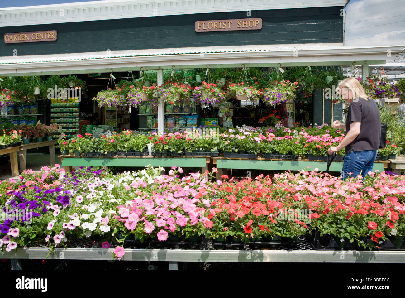 Shopping For Flowers At A