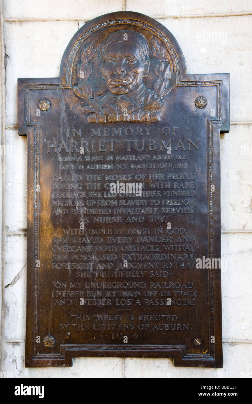 New york cayuga county - Plaque Dedicated To Abolitionist Harriet Tubman At Cayuga County Courthouse Auburn New York