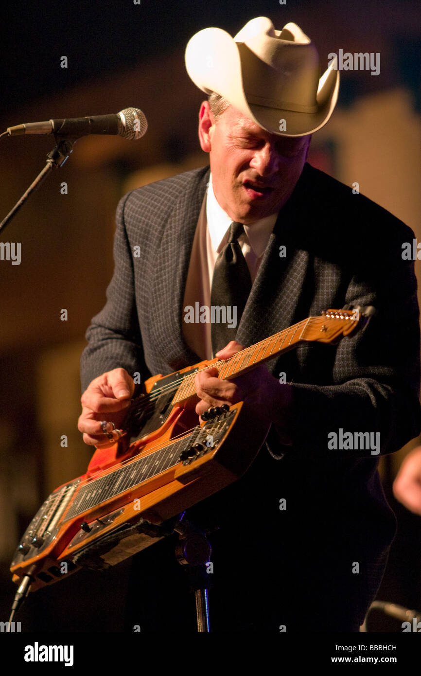 Junior Brown A Popular Country Music Musician Is Guit Steel Guitar Player Performing In Concert At Club Axis Arlington Texas July 2006