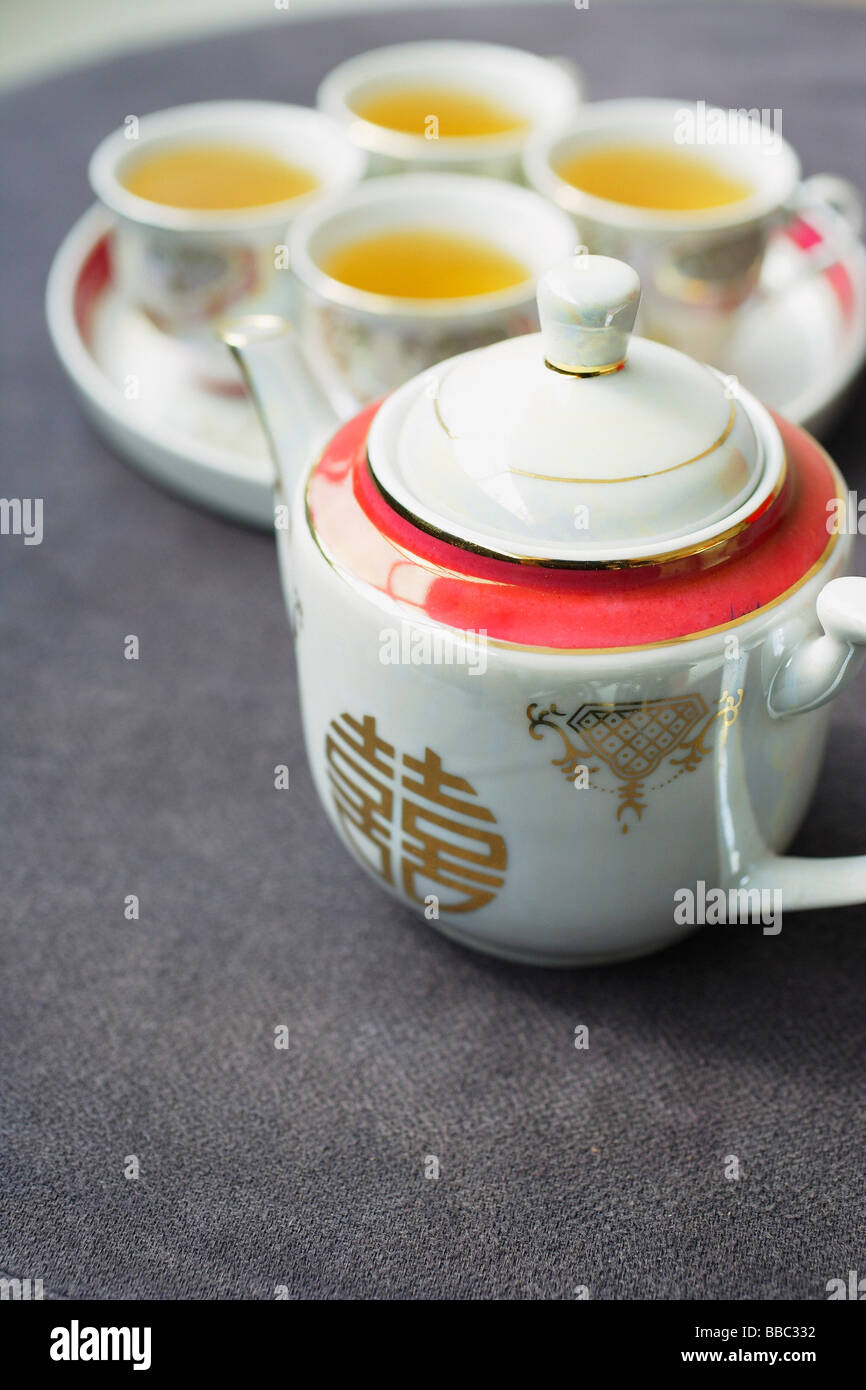 Traditional Chinese Tea Set Used In Wedding Ceremonies
