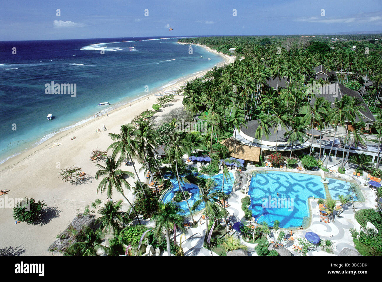 Indonesia bali sanur beach aerial view from top of for Hotel in bali indonesia near beach
