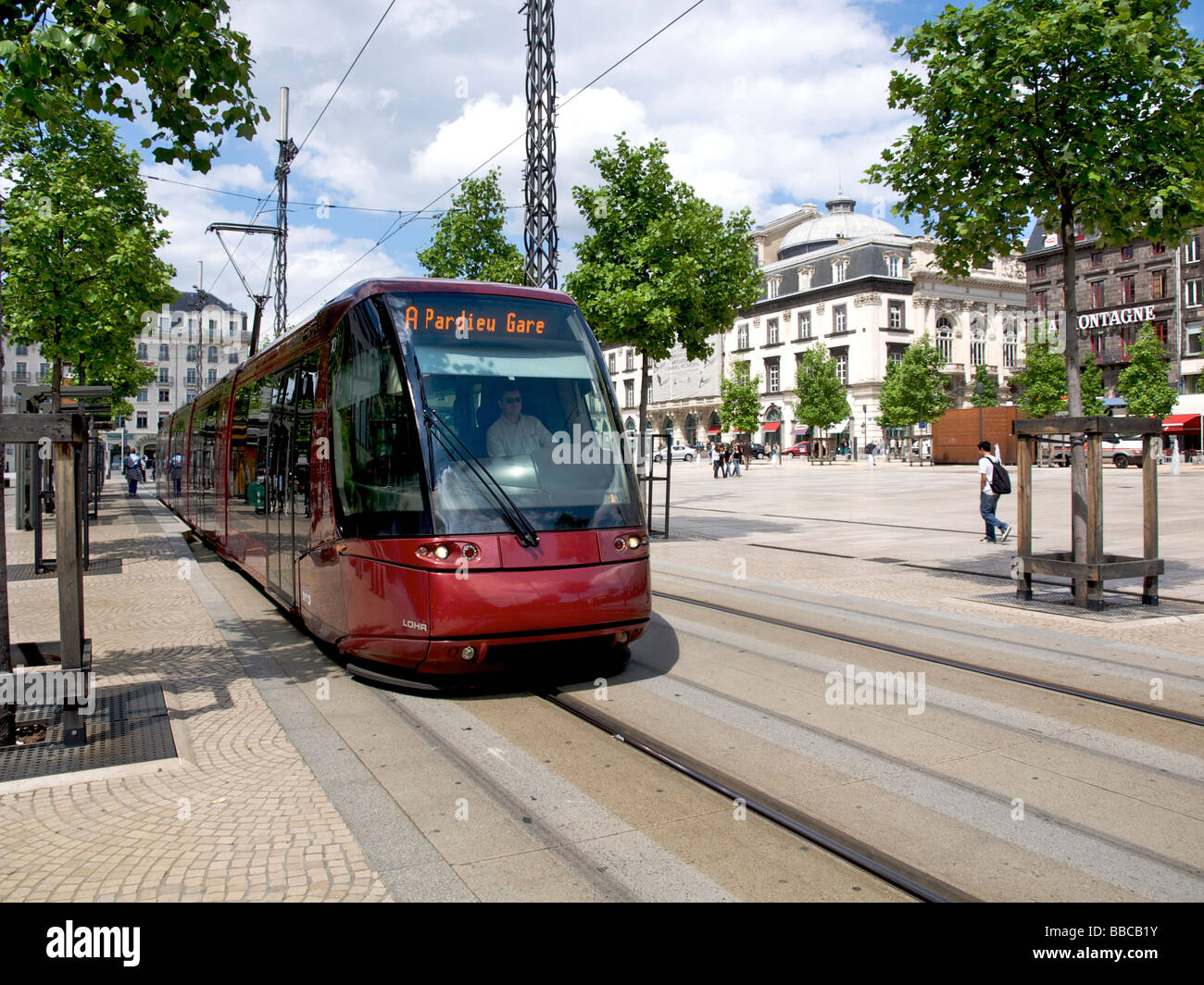 Tram In The City Of Clermont Ferrand, Auvergne, France Stock Photo ...