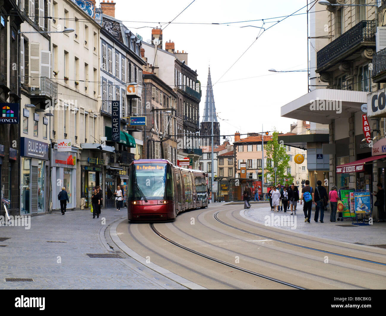 tram in the city of clermont ferrand auvergne france. Black Bedroom Furniture Sets. Home Design Ideas