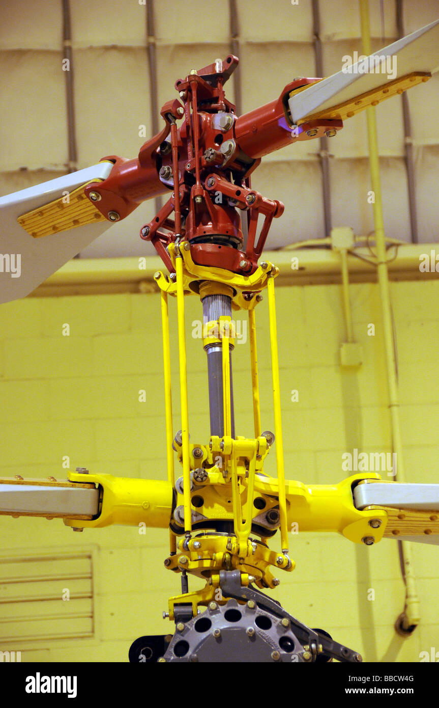 Gyrodyne Qh 50 Coaxial Rotor System Helicopter Stock Photo